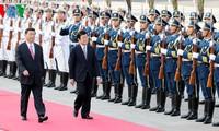 ผู้นำเวียดนาม-จีนได้แสดงความพึงพอใจต่อพัฒนาการใหม่ที่ดีงามในความสัมพันธ์ทวิภาคี