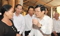 ประธานประเทศอวยพรปีใหม่ชาวอ.กู๋จี นครโฮจิมินห์