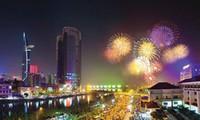 บรรยากาศการต้อนรับปีใหม่2017ของประชาชนเวียดนาม
