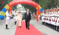 ประธานประเทศเข้าร่วมพิธีครบรอบวันก่อตั้งกองพันน้อยตำรวจคอมมานโดหมายเลข1