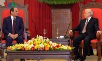 ผู้นำเวียดนามให้การต้อนรับประธานาธิบดีอียิปต์