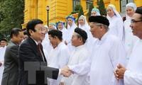 Президент Вьетнама встретился с представителями религии Каодай