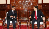 Чыонг Тан Шанг принял послов в связи с истечением их срока полномочий во Вьетнаме