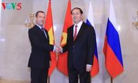 Президент Вьетнама встретился с премьер-министром России