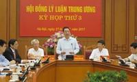 Теоретический совет ЦК КПВ обсуждает строительство простой и эффективной политической системы