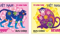Vietnamese Tet's cultural images through Tet stamp-set
