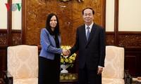 Tran Dai Quang 국가주석; Barbara Szymanowska 폴란드 대사 회견