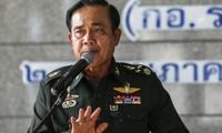 Demonstrators protest Thai coup