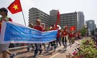 OVs march in Japan to call for China's respect of international law
