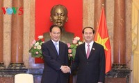 President Tran Dai Quang receives Chinese Xinhua News Agency Chief