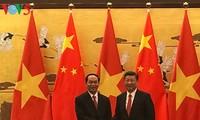 Líderes de Vietnam y China sostienen conversaciones