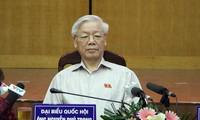 Dirigentes vietnamitas contactan con electores de Hanoi y Hai Phong