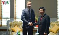 Reuniones bilaterales del vicepremier vietnamita al margen de la Cumbre del ASEM 13