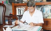 Tran Huu Hue, coleccionista de estampillas sobre Hoang Sa y Truong Sa