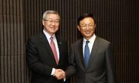 Eröffnung des Außenministertreffens von China, Japan und Südkorea