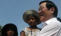 Staatspräsident Truong Tan Sang tagt in der Provinz Ninh Thuan