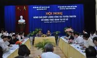 Pressekonferenz über Wettbeweb für mobile Aufklärung über den Hoheitsschutz