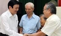 Staatspräsident Truong Tan Sang sammelt Meinungen der Wähler