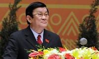 Staatspräsident Truong Tan Sang empfängt japanischen FEC-Vizevorsitzenden