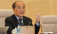 Parlamentspräsident Nguyen Sinh Hung empfängt Delegation des US-Repräsentantenhauses