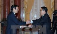 Staatspräsident Truong Tan Sang empfängt ausländische Botschafter