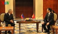 Staatspräsident Truong Tan Sang trifft den philippinischen Parlamentspräsidenten Feliciano J. Belmon