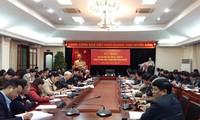 Konferenz der Berichtertatter über die Ergebnisse des 12. Parteitags