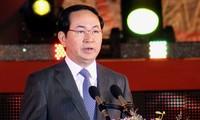 Staatspräsident Tran Dai Quang empfängt Verteidigungsminister aus Indien und Frankreich
