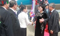 Parlamentspräsidentin Nguyen Thi Kim Ngan besucht Laos