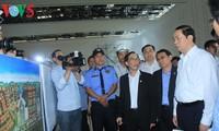 Staatspräsident Tran Dai Quang überprüft die Vorbereitung auf das APEC-Gipfeltreffen in Da Nang