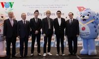 Werbung für 17. Asienspiele im kommenden Jahr in Incheon in Südkorea