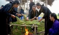 Das Fest für neuen Reis der Thai-Volksgruppe