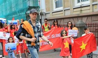 Auslandsvietnamesen protestieren weiterhin gegen China