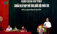 Premierminister Nguyen Tan Dung trifft Wähler in Hai Phong