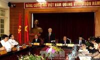KPV-Generalsekretär Trong trifft Vertreter des Ministeriums für Kultur, Sport und Tourismus