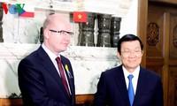 Staatspräsident Truong Tan Sang beendet Besuch in Tschechien