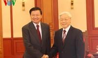 KPV-Generalsekretär Nguyen Phu Trong trifft laotischen Außenminister Thoonglun Sisulith