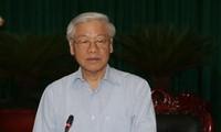 KPV-Generalsekretär Nguyen Phu Trong besucht Dien Bien