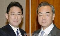 Treffen der Außenminister aus China und Japan in Laos