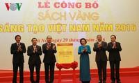 Nguyen Thi Kim Ngan bei Veröffentlichung des goldenen Buches der Kreativität Vietnams 2016