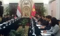 Außenminister Pham Binh Minh trifft seinen singapurischen Amtskollegen