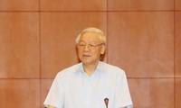 KPV-Generalsekretär Nguyen Phu Trong besucht Laos