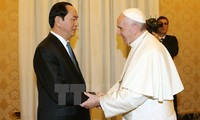 Staatspräsident Tran Dai Quang trifft Papst Franziskus