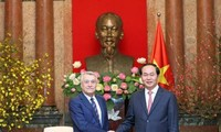 Staatspräsident Tran Dai Quang empfängt Energieminister aus Aserbaidschan