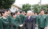 KPV-Generalsekretär Nguyen Phu Trong besucht Generalkommando der Grenzsoldaten