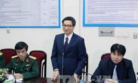 Vizepremierminister Vu Duc Dam besucht Volksarmee-Zeitung Quan Doi Nhan Dan