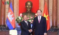 Staatspräsident Tran Dai Quang empfängt kambodschanischen Parlamentspräsidenten