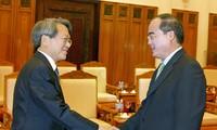 รองนายกฯNguyễn Thiện Nhân ให้การต้อนรับหัวหน้าสำนักงานตรวจตราและตรวจเงินแผ่นดินสาธารณรัฐเกาหลี