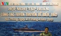 การฝึกอบรมด้านประชาสัมพันธ์เกี่ยวกับเกาะแก่งและทะเล