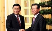 ประธานประเทศให้การต้อนรับคณะตัวแทนความร่วมมือเศรษฐกิจคันไซ-ญี่ปุ่น
